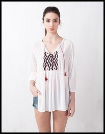 blusa etnica pull and bear