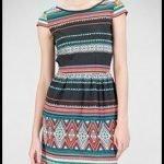 vestido estilo étnico de stradivarius