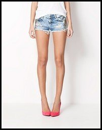 shorts denim bershka