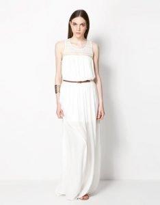 Vestido blanco de Bershka