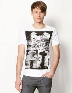 Camiseta hombre Bershka