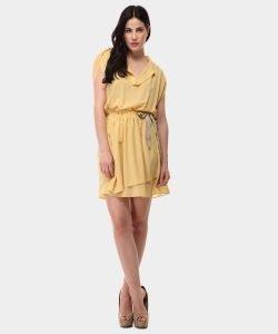 Vestido amarillo de pinko en Privalia