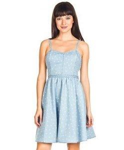 Vestido NafNaf azul claro en Ofertix