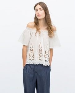 Camisa de Zara blanca