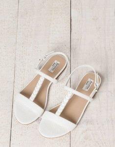 Sandalias blancas de BSK
