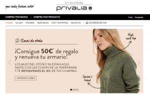 Tienda online Privalia