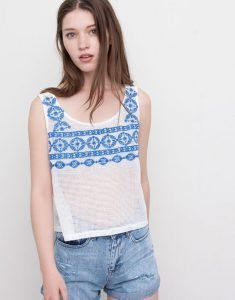 Camiseta blanca de Pull and Bear